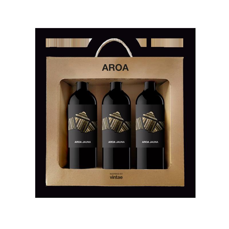 Estuche Aroa 3 botellas: